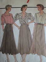VINTAGE STYLE SEWING PATTERN WOMEN'S SET OF SKIRTS SIZE 12