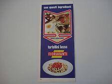 advertising Pubblicità 1969 TORTELLINI LUSSO FIORAVANTI