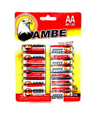 64 x Ambe R6 1.5V MIGNON AA BATTERIEN LR6 R6P Batterie Carbon Tv Video Spielzeug