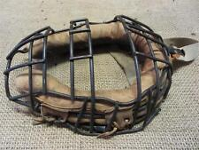 Vintage Metal Wire & Leather Baseball Catchers Mask > Antique Old Ball 8219