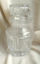 VINTAGE HEAVY CUT GLASS PICKLE PRESERVE POT / JAR & LID