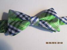 NWT $34 CROFT /& BARROW Liberty Fabric Adjustable Plaid Bow Tie Red White Blue