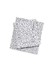 Victorias Secret PINK Twin Sheet Set Grey Animal Leopard Bedding Dorm Extra LONG