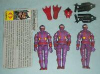 1988 GI Joe Cobra Underwater Elite Troopers Hydro Vipers File Card Accessory Lot