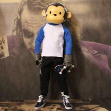 """Cotton T Shirt Blue For 1/6 Scale Male 12"""" Action Figure 1:6 Model HT 3A etc."""