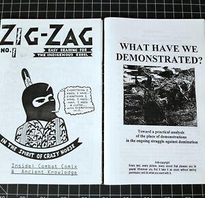 ZIG ZAG CRAZY HORSE REBEL ZINE ANARCHY OCCULT ILLUMINATI VTG PROTEST COMIC BOOK