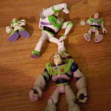LOT OF 4 BUZZ LIGHTYEAR FROM TOYSTORY ACTION FIGURE TOYS DISNEY