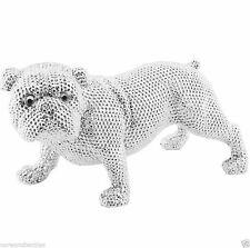 Bulldog Diamante Silver Decorative Figure Ornament LP28040
