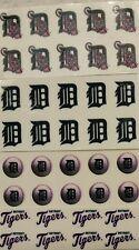 MLB DETROIT TIGERS BASEBALL LOGOS》Pink Breast Cancer Awareness》Nail Art Decals