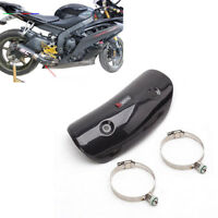 1PC Motorcycle Exhaust Middle Link Pipe Protector Heat Shield Real Carbon Fiber