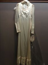 New Vtg 80s GUNNE SAX Ivory Satin Lace Wedding DRESS GOWN Boho Hippie Size 7 Sm