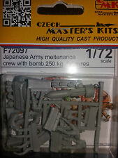 1:72 CMK #72097 Japanese Army Maintenance Crew with 250kg Bomb (8 Figures) Resin