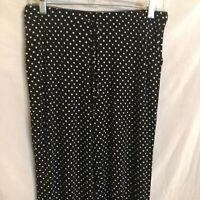 Cynthia Rowley Sleepwear Womens PJ Pajama Lounge Pants Polka Dots Stretch M