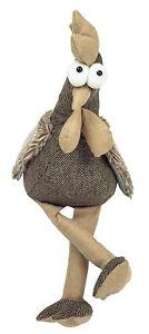 Fabric Chicken Door Stop Prop Doorstop Stopper Weight (Brown)
