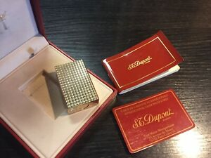 St. Dupont Feuerzeug Gold *Funktionsfähig* mit Box Linie 1