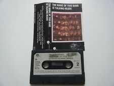 TALKING HEADS THE NAME OF THIS BAND IS CASSETTE TAPE 1982 PAPER LABEL SIRE