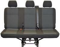 Replacement VW Transporter T6 Rear Triple Seat Cover Simora Titanium Black