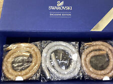 *NEW GENUINE SWAROVSKI DOUBLE CRYSTAL STARDUST Deluxe bangle bracelet Mesh SET