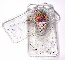 For iPhone 7 & 7 PLUS - Ice Cream Cone Sprinkles Glitter Soft Silicone Skin Case