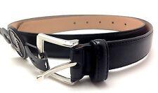 Image Jeans Mens Genuine Leather Black Belt Chome Harness Size I-32 Black