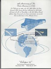 3/26/1977 Colopex Oh 15th Anniversary of 1st American in Orbit Program Card