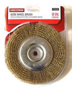 """CRAFTSMAN 8"""" BENCH GRINDER COARSE WIRE WHEEL BRUSH 5/8 & 1/2 ARBOR 935692"""