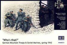 MMasterBox Alemán Mountain Tropas & Soviético Marines 1943 Gebirgsjäger 1:35 kit