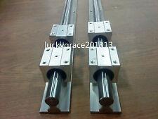 2X SBR16 L = 500mm 16mm FULLY SUPPORTED LINEAR RAIL + 4 SBR16UU Rounter Bearing
