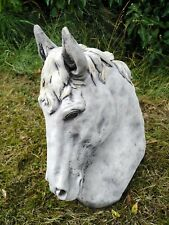 Beautiful MEDIUM HORSE HEAD Highly Detailed Pillar Cap Harden Ornament Decor