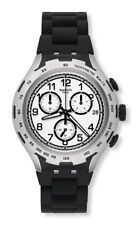 Swatch XLITE Black Attack yys4020ag Analogue Chronograph Aluminium, Silicone Sch