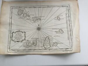 Cape Verde Map c.1746 by Bellin