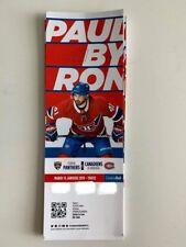 unused season hockey tickets Canadiens featuring Paul Byron Jan15 2018/2019