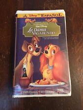 Disney La Dama y El Vagabundo (Lady and the Tramp) Official Spanish Español VHS