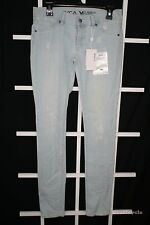 RVCA Women's Juniors Denim Jeans Size 28 Light Blue Wash Rain Slim Skinny NEW