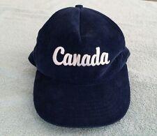 a57ca748c77 Vintage Canada Corduroy Trucker Baseball Hat Cap Blue