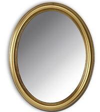 Wandspiegel Oval Gold 46x36 Shabby Badspiegel Modern Spiegel  Antik