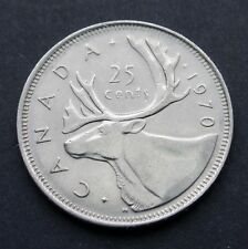 CANADA - 25 CENTS 1970 - LOW MINTAGE - CIRC. - (C509)