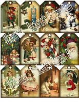Set of 24 Christmas-Gift/Hang Tags-Scrapbook's-Cards Paper Craft A190