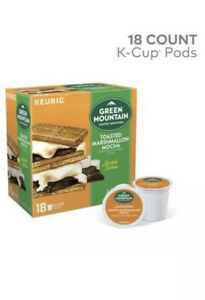Green Mountain Coffee Toasted Marshmallow Mocha K-Cups for Keurig Brewers 18-Ct