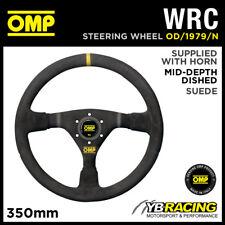 OD/1979/N OMP WRC STEERING WHEEL MID-DEPTH 350mm BLACK SUEDE LEATHER GENUINE OMP