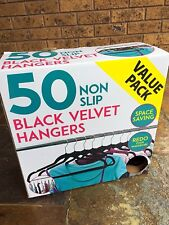 Black Velvet Coat Hangers – Box of 50 – New