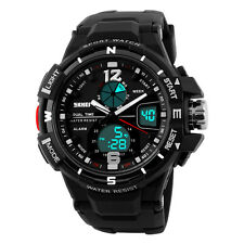 Shock 50M Waterproof Quartz Watch Analog Digital Alarm Military Wristwatch
