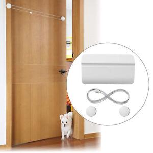 Automatic Pet Door Opener Rope Stretched Dog Cat Entry Doorway Open Door