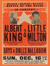 "Albert King / Little Milton Texas 16"" x 12"" Photo Repro Concert Poster"