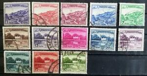 PAKISTAN - 1961 - Local Motives Perf. 13 - Lot of 13 USED stamps