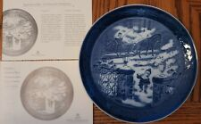 "Royal Copenhagen 2003 ""Seasons Greetings"" Christmas Plate With Box & Coa"