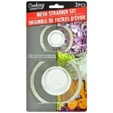 2 Pack stainless Steel Mesh Sink Strainer Drain Stopper Trap Kitchen Bathroom