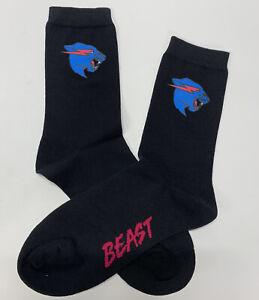 Brand New Mr. Beast Socks ~ Beast Tiger Logo ~ High Quality ~ Black Socks