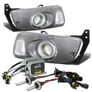 CLEAR LENS DRIVING BUMPER OE FOG LIGHT/LAMP+3K HID FOR 92-95 CIVIC 2DR/3DR