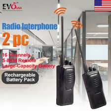 2PCS Kenwood TK-3207G UHF Portable Walkie Talkie Handheld Radio Interphone